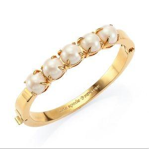 NWT Kate Spade Squared Away Pearl Bangle Bracelet